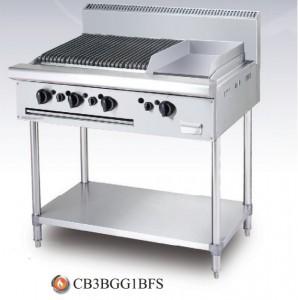 Bếp nướng chiên bề mặt dùng gas CB 3B GG1B, CB 3B GG1B-FS